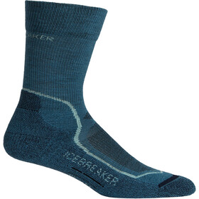 Icebreaker Hike+ Light Crew Socks Dam thunder/aqua splash/midnight navy